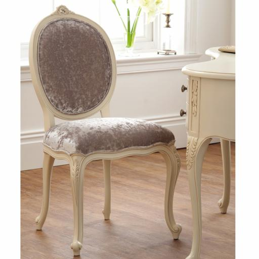 Rococo Soft White Chair - Winsor Furniture WR9WP