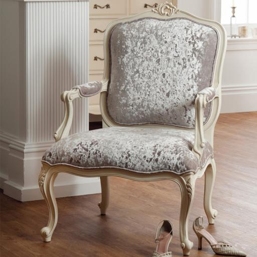 Rococo Soft White Armchair - Winsor Furniture WR1WP