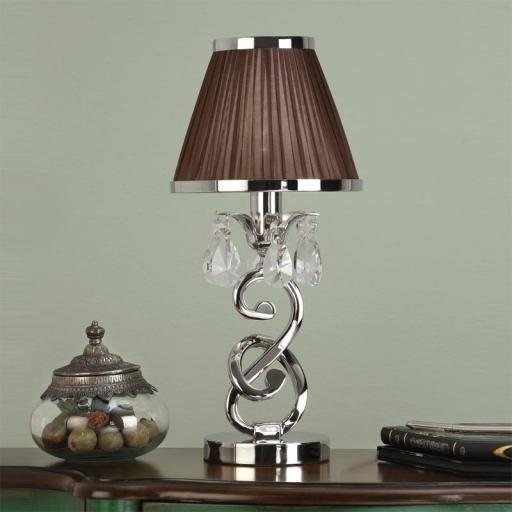 Oksana Nickel Mini Lamp with Chocolate Shades - New Classics Interiors 1900 Lighting