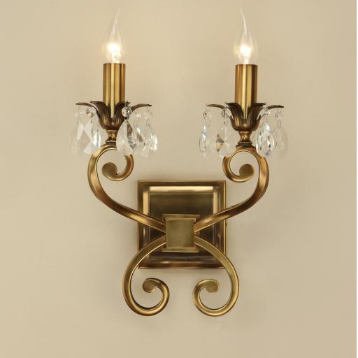 Oksana Brass Double Wall Light - New Classics Interiors 1900