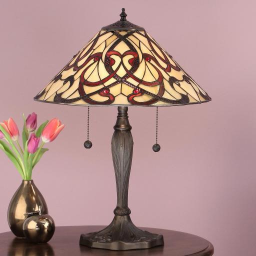 Ruban Table Lamp - Interiors 1900 Tiffany Light