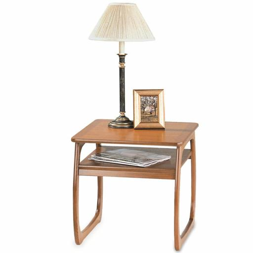 Nathan Furniture 5444 Burlington Lamp Table - Classic & Shades Teak Range