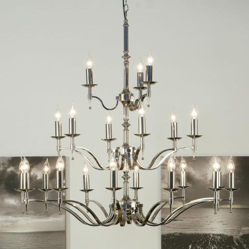 Stanford Nickel 21 Light Chandelier - New Classics Interiors 1900 Lighting
