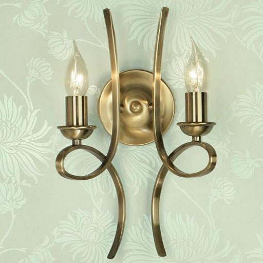 Penn Double Wall Light Brass - New Classics Interiors 1900 Lighting