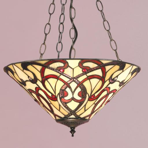 Ruban Medium Inverted Pendant - Interiors 1900 Tiffany Light