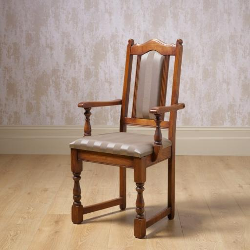 2068 Lancaster Dining Armchair - Old Charm Furniture - Wood Bros