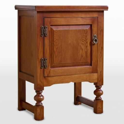 OC2981 Single Door Pedestal - Old Charm Furniture - Wood Bros