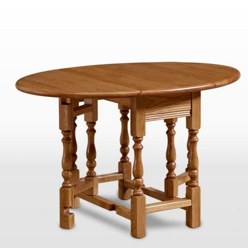 OC1493 Occasional Gateleg Table - Old Charm Furniture - Wood Bros