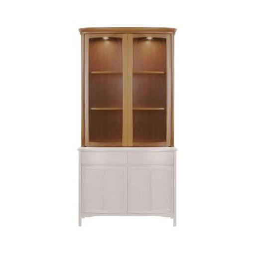 Nathan Furniture 4044 Shaped 2 Door Display Top Unit - Shades Teak Nathan Furniture