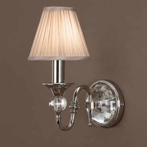 Polina Nickel Single Wall Light Beige - New Classics Interiors 1900 Lighting