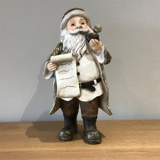 Golden Santa Figure 22298 - Flame