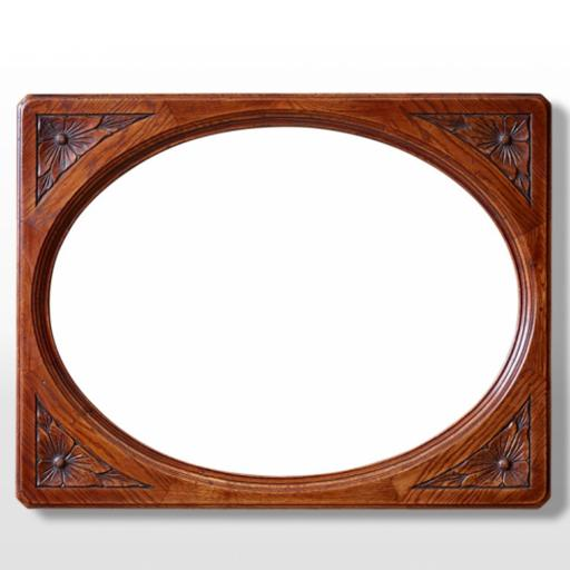 2990 Oval Wall Mirror - Old Charm Furniture - Wood Bros