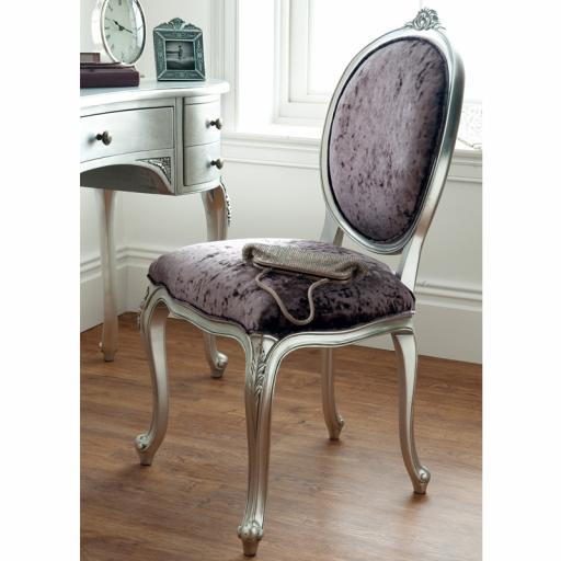 Rococo Silver Leaf Chair - Winsor Furniture WR9WS
