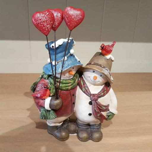 Snowman Couple 22832 - Flame
