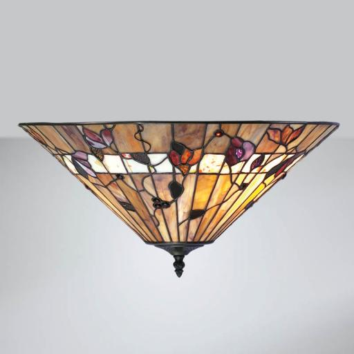 Bernwood Flush Ceiling Light - Interiors 1900 Tiffany Light