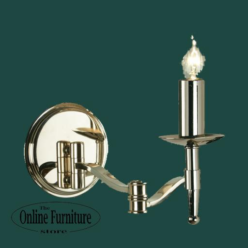 Stanford Nickel Swing Arm Wall Light - New Classics Interiors 1900 Lighting