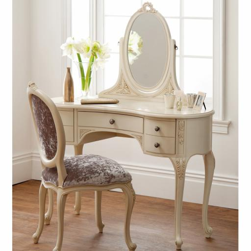 Rococo Soft White Dressing Table - Winsor Furniture WR8WP