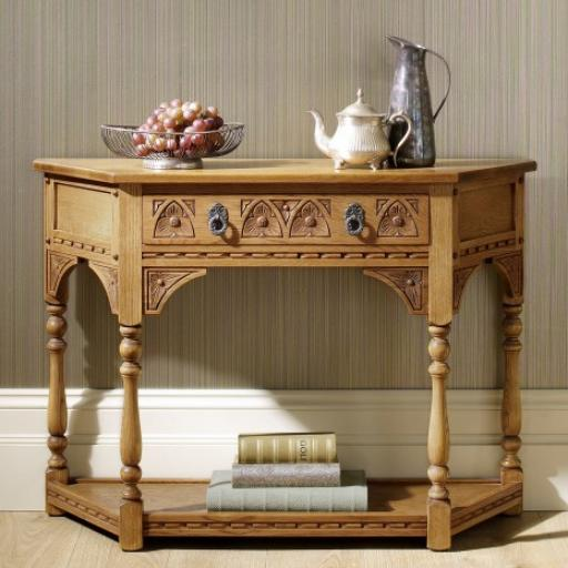 OC2379 Canted Console Table - Old Charm Furniture - Wood Bros
