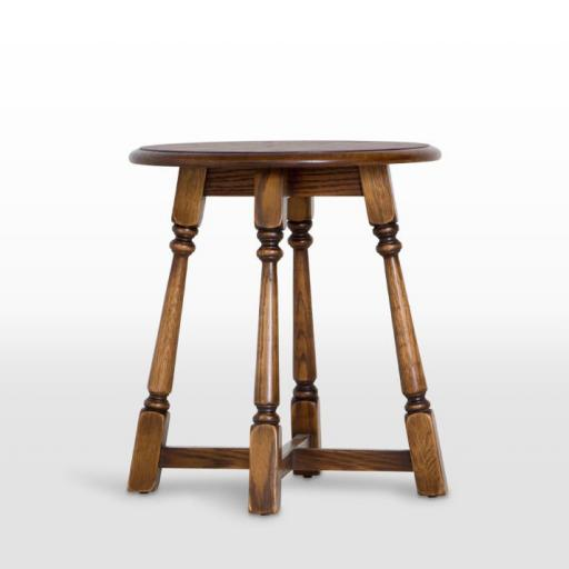 3177 Round Lamp Table - Old Charm Furniture - Wood Bros