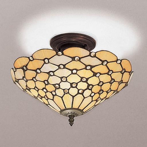 Pearl Semi-Flush Ceiling Light - Interiors 1900 Tiffany Lighting