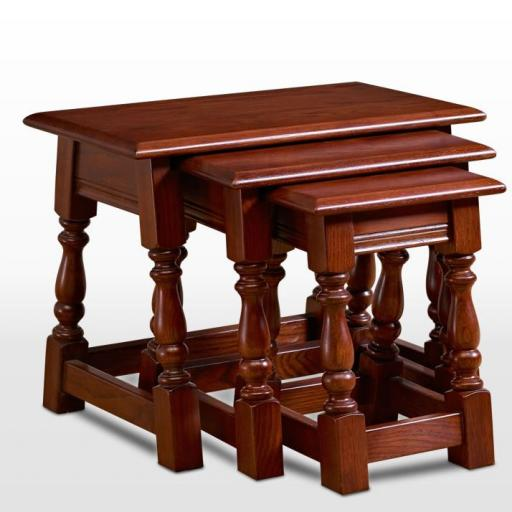 OC1494 Nest of Tables - Old Charm Furniture - Wood Bros