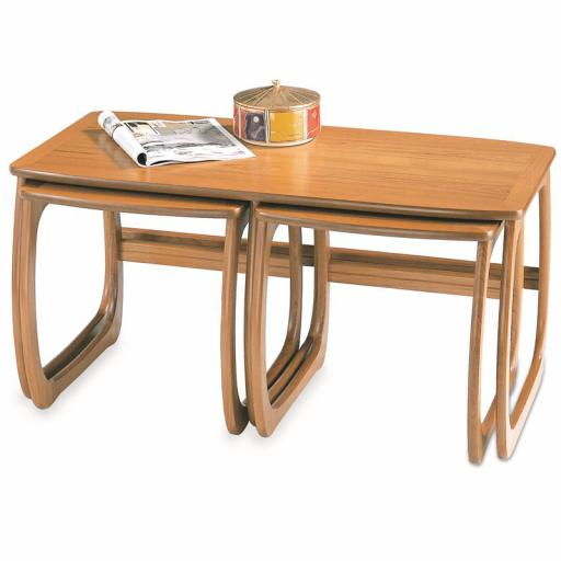 Nathan Furniture 5424 Burlington Coffee Table Nest - Classic & Shades Teak Range