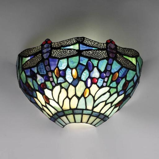 Dragonfly Blue Wall Light - Interiors 1900 Tiffany Light