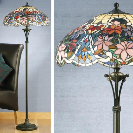 Sullivan Floor Lamp - Interiors 1900 Tiffany lighting