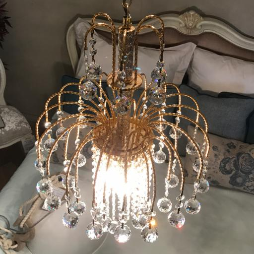 Impex 3 Light Gold Shower Chandelier  - Showroom Clearance  CE00710/35