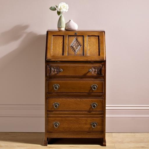 OC2656 Ladies Bureau - Old Charm Furniture - Wood Bros