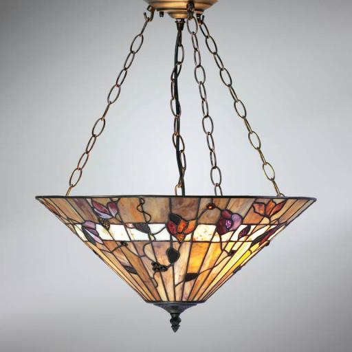 Bernwood 3 Chain Pendant - Interiors 1900 Tiffany Light