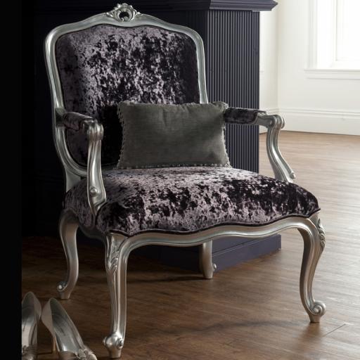 Rococo Silver Leaf Armchair - Winsor Furniture WR1WS