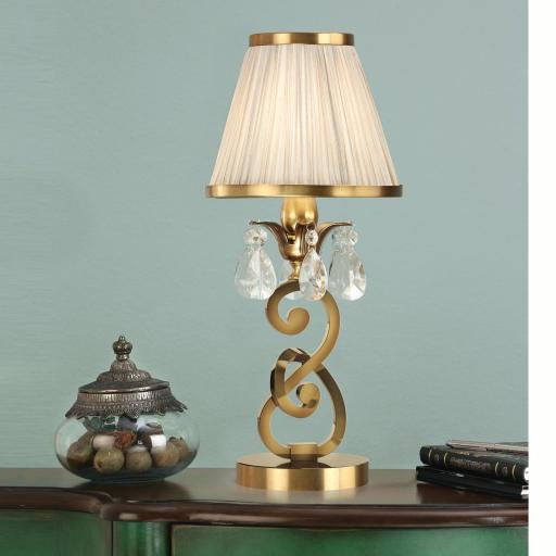 Oksana Brass Mini Lamp with Shade - New Classics Interiors 1900