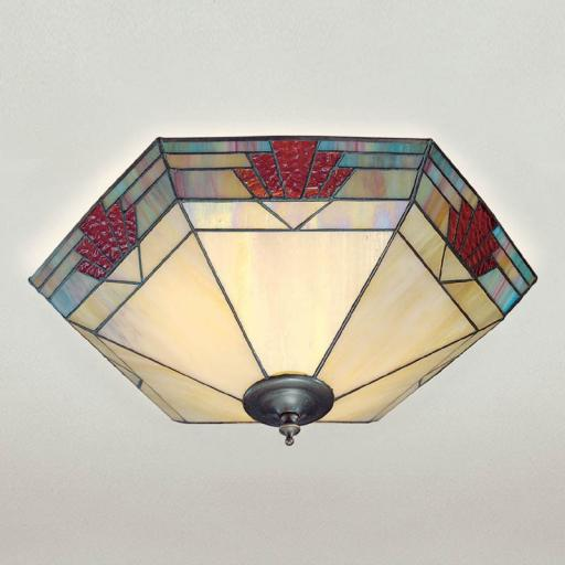 Nevada Flush Ceiling Light - Interiors 1900 Tiffany Lighting