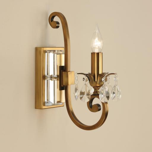 Oksana Brass Single Wall Light - New Classics Interiors 1900