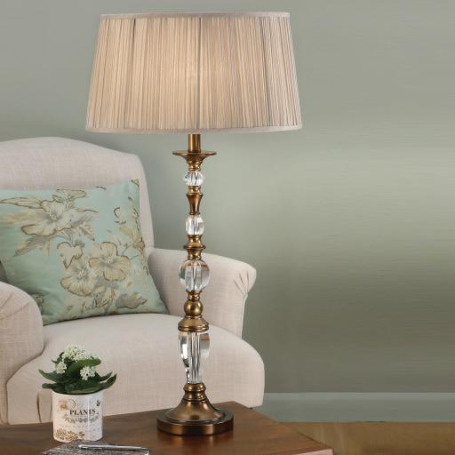 Polina Brass Large Table Lamp - New Classics Interiors 1900 Lighting