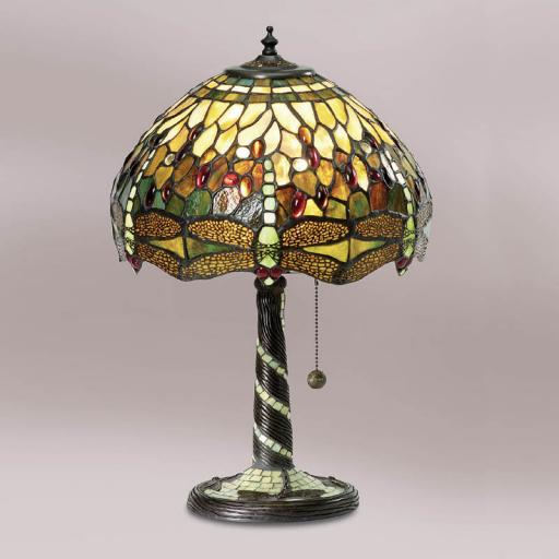 Dragonfly Green Medium Table Lamp - Interiors 1900 Tiffany Light
