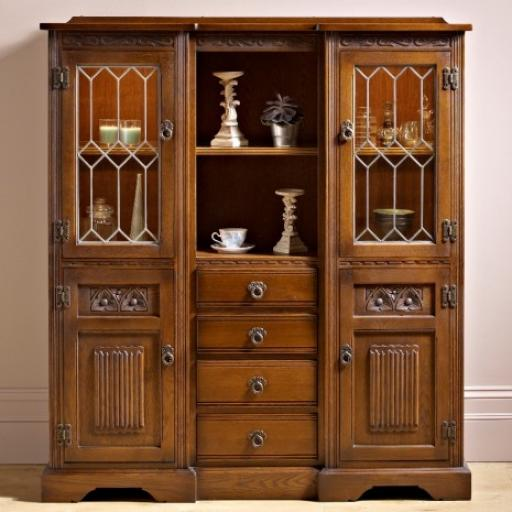 2730 Tall Recessed Sideboard - Old Charm Furniture - Wood Bros