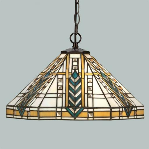 Lloyd Pendant - Interiors 1900 Tiffany Light