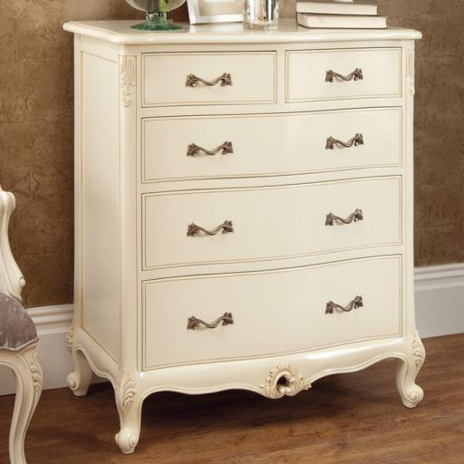 Rococo Soft White Chest of Drawers - Winsor Furniture WR4WP