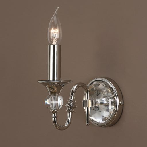 Polina Nickel Wall Light - New Classics Interiors 1900 Lighting