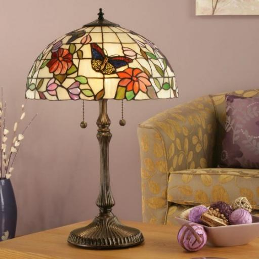 Butterfly Large Table Lamp - Interiors 1900 Tiffany Light