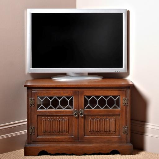 OC2264 Corner TV/Video Cabinet - Old Charm Furniture - Wood Bros