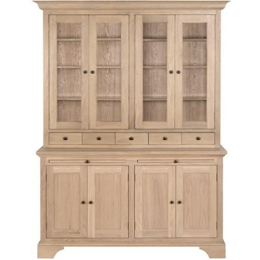 Henley 5ft Glazed Rack Dresser - Neptune Furniture
