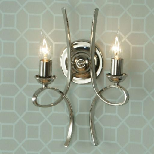 Penn Double Wall Light Nickel - New Classics Interiors 1900 Lighting
