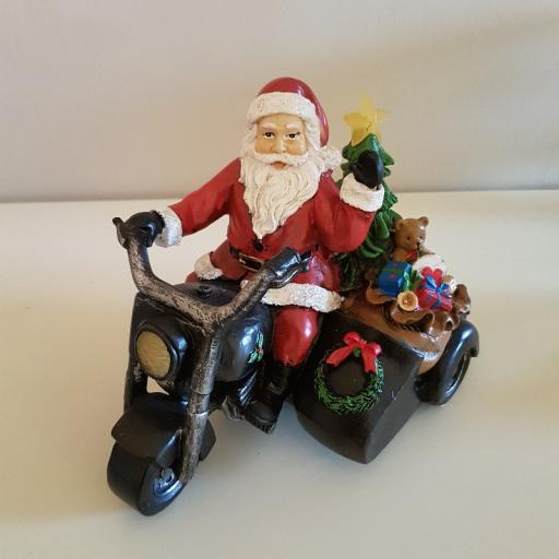 Santa on Motorbike W/LED Light 54694 - Enchante