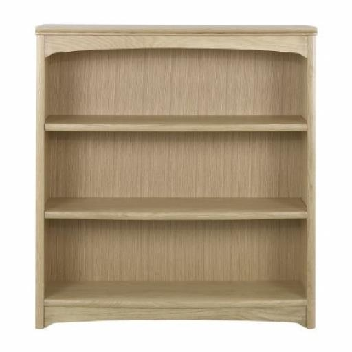 8993 Mid Height Double Bookcase - Nathan Furniture - Editions Oak