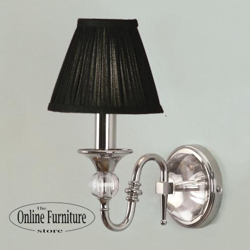 Polina Nickel Single Wall Light Black - New Classics Interiors 1900 Lighting