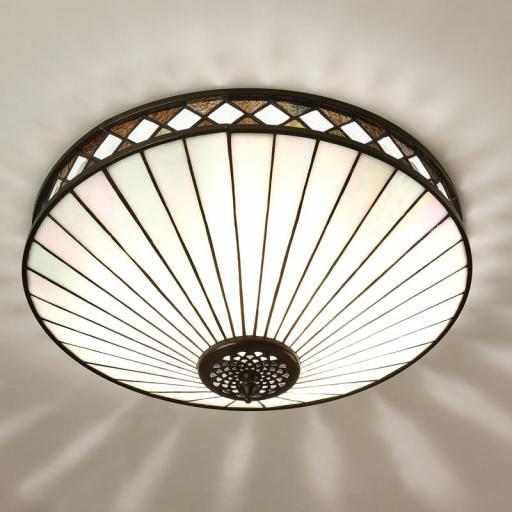Fargo Flush Ceiling Light White - Interiors 1900 Tiffany Lighting