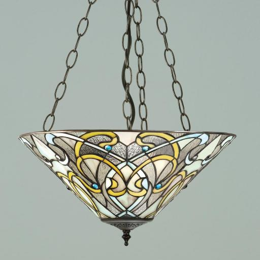 Dauphine Medium Inverted Pendant - Interiors 1900 Tiffany Lighting